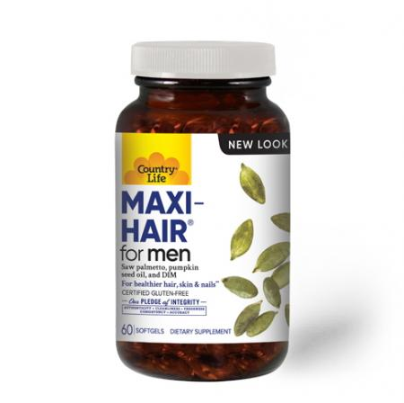 Country Life Maxi-Hair For Men, 60 sofgel new
