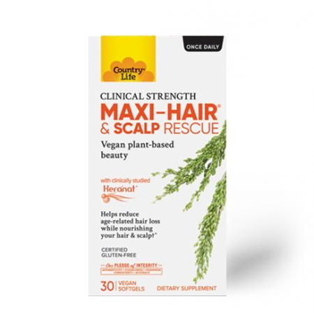 Country Life Maxi-Hair and Scalp Rescue, 30 капсул