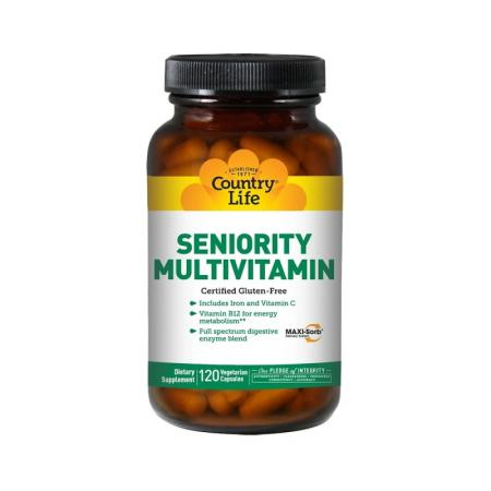 Country Life Seniority Multivitamin, 120 капсул