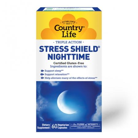 Country Life Stress Shield Nighttime, 60 капсул