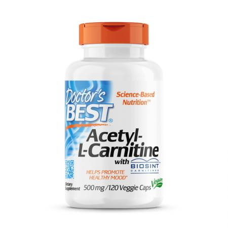 Doctor's Best Acetyl-L-Carnitine 500 mg, 120 капсул