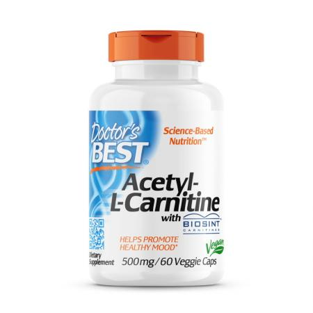 Doctor's Best Acetyl-L-Carnitine 500 mg, 60  капсул
