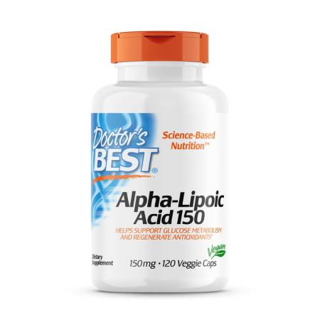 Doctor's Best Alpha-Lipoic Acid 150 mg, 180 вегакапсул