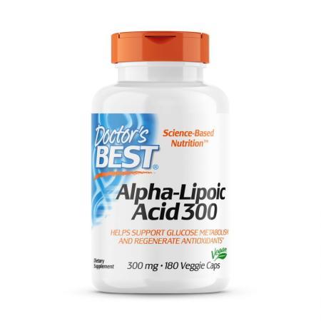 Doctor's Best Alpha-Lipoic Acid 150 mg, 180 вегакапсул