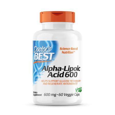 Doctor's Best Alpha-Lipoic Acid 600 mg, 60 вегакапсул