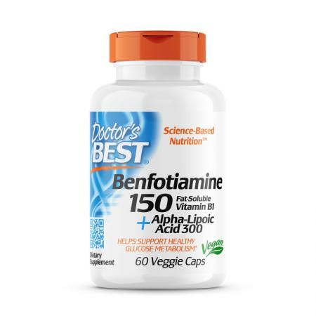 Doctor's Best Benfotiamine 150 + Alpha-Lipoic Acid 300, 60 вегакапсул