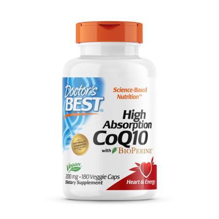 Doctor's Best CoQ10 BioPerine 200 mg, 180 вегакапсул