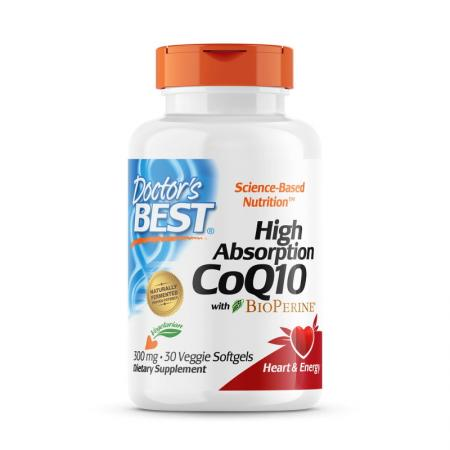 Doctor's Best CoQ10 BioPerine 300 mg, 30 гелевых вегакапсул