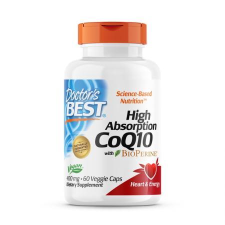 Doctor's Best CoQ10 BioPerine 400 mg, 60 вегакапсул