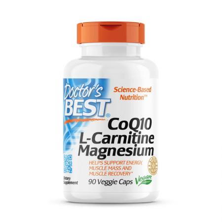 Doctor's Best CoQ10 L-Carnitine Magnesium, 90 вегакапсул