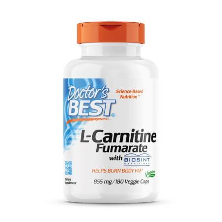 Doctor's Best L-Carnitine Fumarate 855 mg, 180 вегакапсул