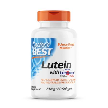 Doctor's Best Lutein with Lutemax 2020, 60 вегакапсул