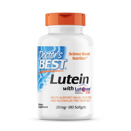 Doctor's Best Lutein with Lutemax 2020, 180 вегакапсул