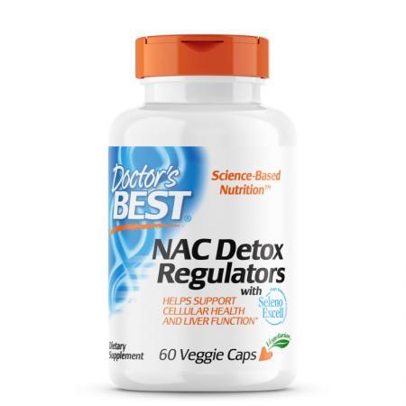 Doctor's Best NAC Detox Regulators, 60 капсул