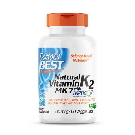 Doctor's Best Natural Vitamin K2 MK-7 with MenaQ7 100 mcg, 60 капсул
