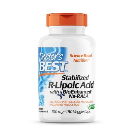 Doctor's Best Stabilized R-Lipoic Acid 100 mg, 180 вегакапсул