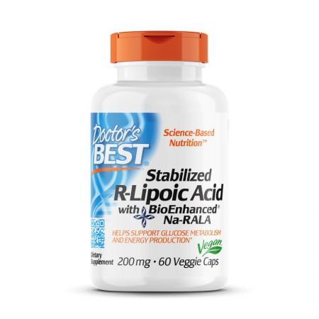 Doctor's Best Stabilized R-Lipoic Acid 200 mg, 60 вегакапсул