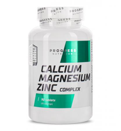 Progress Nutrition Calcium Magnesium Zinc Complex, 90 таблеток