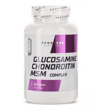Progress Nutrition Glucosamine Chondroitin MSM, 90 таблеток