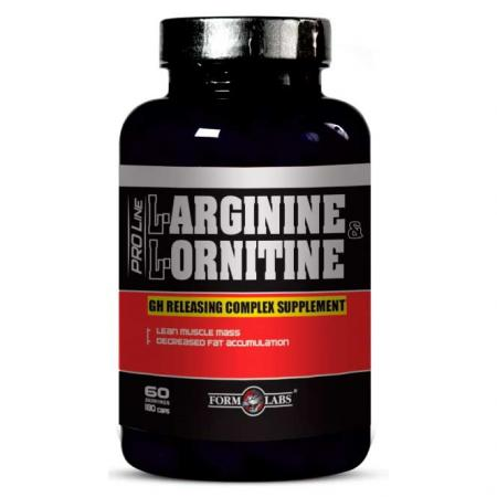 Form Labs L-Arginine and L-Ornithine, 180 капсул
