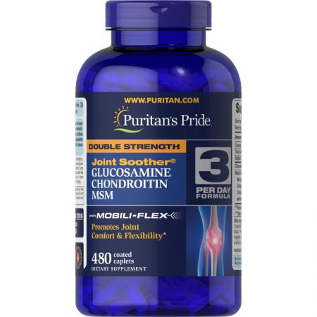 Puritans Pride Double Strength Chondroitin Glucosamine MSM, 30 каплет