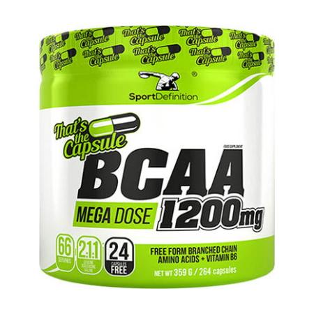 Sport Definition BCAA Mega Dose 1200 mg, 264 капсул