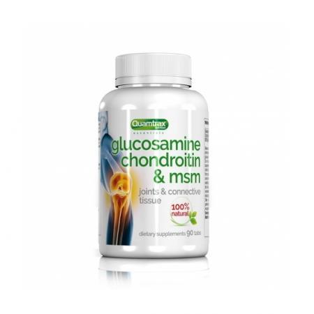 Quamtrax Glucosamine Condroitin & MSM, 90 таблеток
