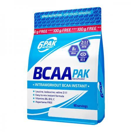 6PAK Nutrition BCAA Pak, 900 грамм