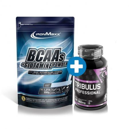IronMaxx BCAAs + Glutamine 550 грамм + German Forge Tribulus 90 таблеток, SALE