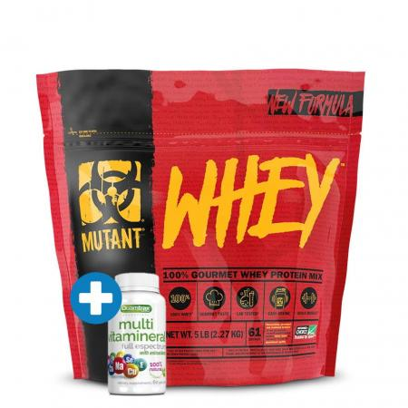 Mutant Whey 2.27 кг + Quamtrax Multi Vitamineral 60 капсул, SALE