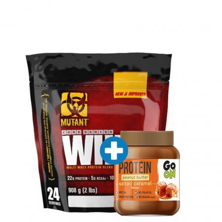 Mutant Whey 907 грамм + GoOn Protein Peanut butter 350 грамм, SALE