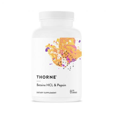 Thorne Betaine HCL & Pepsin, 225 капсул