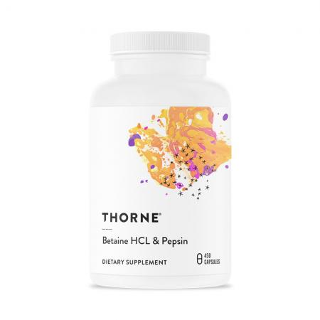 Thorne Betaine HCL & Pepsin, 450 капсул