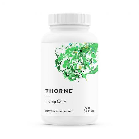Thorne Hemp Oil, 30 гелевых капсул