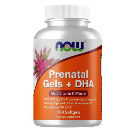 NOW Prenatal Gels with DHA, 180 капсул