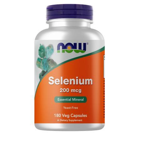 NOW Selenium 200 mcg, 180 вегакапсул