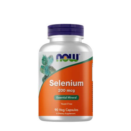 NOW Selenium 200 mcg, 90 вегакапсул