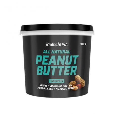 BioTech Peanut Butter, 1 кг - Crunchy