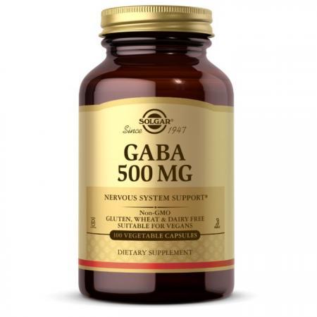 Solgar GABA 500 mg, 100 вегакапсул