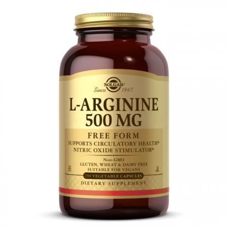 Solgar L-Arginine 500 mg, 250 вегакапсул