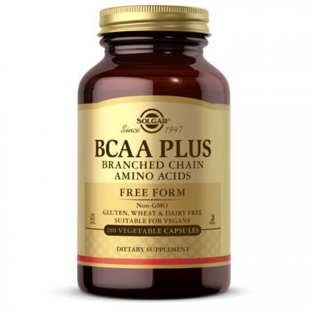 Solgar BCAA Plus, 100 вегакапсул