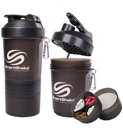 Шейкер Smart Shake, 400 мл - черный разобранный