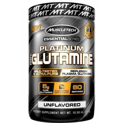 Muscletech Platinum 100% Glutamine, 302 грамма