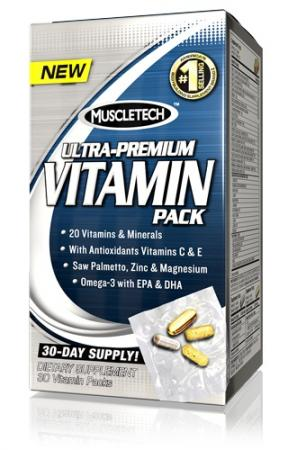 Muscletech 100% Ultra-Premium Vitamin Pack, 30 пакетиков