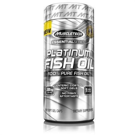 Muscletech Platinum 100% Fish Oil, 100 капсул