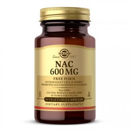 Solgar NAC 600 mg, 30 вегакапсул