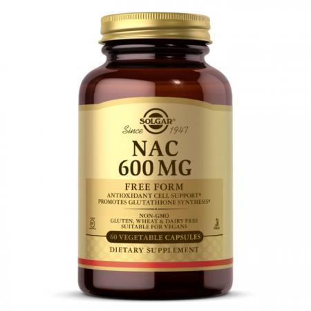 Solgar NAC 600 mg, 60 вегакапсул