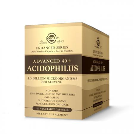 Solgar Advanced 40+ Acidophilus, 120 вегакапсул