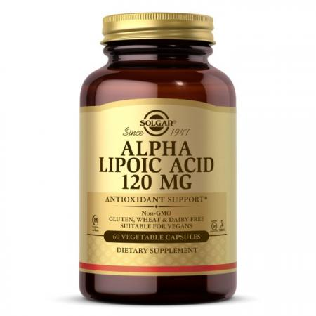 Solgar Alpha Lipoic Acid 120 mg, 60 вегакапсул