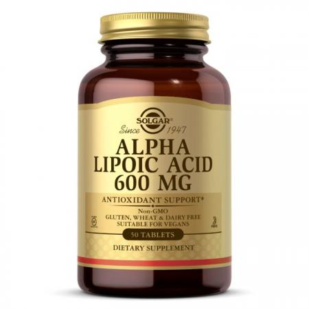 Solgar Alpha Lipoic Acid 600 mg, 50 таблеток